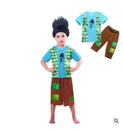 Wholesale Kids Leisure Shorts - moana Two piece suit summer short sleeve Tshirt+ shout pants kids cartoon cloth Leisure wear Childrens pajamas suit