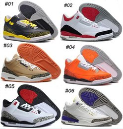 Wholesale Cushions Silver Black - 21Color Oero Retro 3 Basketball Shoes Fashion High Quality Retros Shoes Sports Replicas Outdoor Original Man Sports Shoes