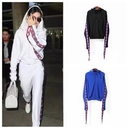 Wholesale Women Suits Designs - 2017 Women Hoodie Hip Hop Design Vetements Hoodies Women High Quality Embroidery Oversize Pullover Hoodie Suit Black White Blue Hoodie S-XL
