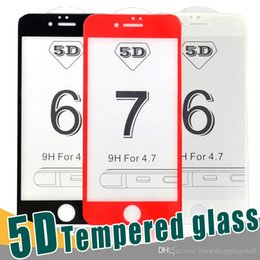 Wholesale Good Screen Protectors - GOOD Quality 4D 5D HD Screen Tempered Glass Carbon Fiber Protector Film For iPhone X 8 6 6s 7 7s Plus