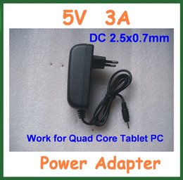 Wholesale Spark Power - Wholesale- 50pcs 5V 3A 2.5mm Jack Wall Charger for Quad Core Tablet PC Ainol Hero II Spark Sanei N10 T7s T10s Pipo M9 Power Supply Adapter