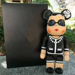 Wholesale Wood Home Decoration - New Arrival Luxury Brand C 11inch 400% Bearbrick Lady Bear Brick with Classic Logo C Doll for Gift with Logo Box Home Decoration
