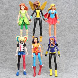 Wholesale Batgirl Comics - 6pcs DC Comics Super Hero Girls Harley Quinn Batgirl Kid Action Figures Doll Toy For children Gift
