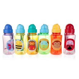 Wholesale Infant Glasses - Wholesale-Bottle Feeding Toddler Infant Newborn Baby Kids Cup Learn Drinking Straw Bottle Sippy Cup 240ml Baby Bottle