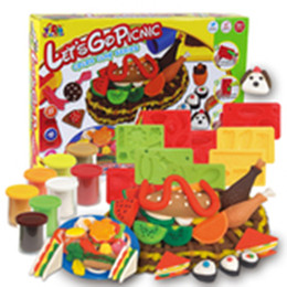 Wholesale Free Big Cook - Color Clay Dough set Funny Children Cooking Picnic Free Tools and Accessories For Kid the best gift for children (Large)