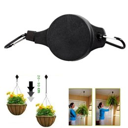 Wholesale Hanging Pulleys - 2pcs telescopic Retractable Pulley Hanging Basket Pull Down Hanger can load under 15kg weight 20cm-90cm length