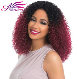 Wholesale Kinky Hair Sale - Ombre Human Hair Bundle New Sale Two Tone 1B Bg Colored Ombre Kinky Curly Hair Mongolian Human Hair Weave Weft Extensions 3 Bundles