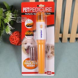 Wholesale Pedi Care - 100pcs Pet nail clipper Pedi Painless Pet Dogs Cats Paw Nail Trimmer Cut Electric Pets make your pets fell more comfortable DHL