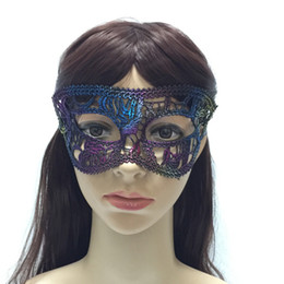 Wholesale Mardi Gras Masks For Sale - Lace Halloween Party Mask Half Face Multi Function Mardi Gras Masquerade Birthday Party Decorative Patch Hot Sale 2 3xn J R