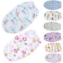 Wholesale Baby Polar Fleece Sleeping Bag - Baby Swaddle Wrap Polar Fleece Fabric Envelopes Soft Blanket Swaddling Baby Sleepsack Sleeping Bag Swaddleme Infant Bedding