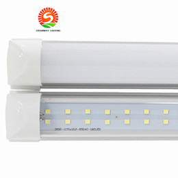 Wholesale Lead Lines - Integrated T8 Led Lights 4ft 28W 8ft 65W 72W Led Tubes Light double lines Led Light Tube 1200mm 2400mm AC 110-240V UL DLC