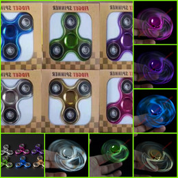 Wholesale Hot Wheels Green - Hot Selling EDC Toys Triangular Stress Wheel orqbar plating Professional Rainbow Fidget Spinner Autism and ADHD Stress Wheel