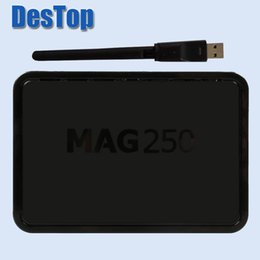 Wholesale Internet Receivers - Mag250 Smart IPTV Set Top Box Linux Operating System Decoder Support USB Wifi M3U Playlist Portal Stalker Internet Tv Box