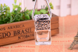 Wholesale Perfumes Low Prices - Lowest Price 5ml Perfume Diffuser Bottle , Hanging Car Diffuser Glass Bottles Small Empty Square Car Diffuser Bottles Hot 2018 Free DHL