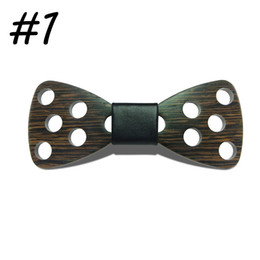 Wholesale Handmade Wood Design - 2017 New Design Brand Fashion Handmade Wood Bow ties Bowtie Butterfly Gravata Ties For Men DIY Dot Mens Wooden bow tie