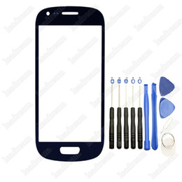 Wholesale S3 Mini Front Cover - Front Outer Touch Screen Glass Cover Replacement for Samsung Galaxy s3 Mini i8190 with Tools
