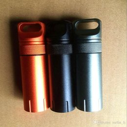 Wholesale Car Capsule - EDC Aluminium Waterproof Capsule Seal Bottle Outdoor Protect Gears Match Case Box Container Storage Case Emergency Tool