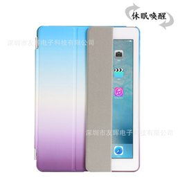 Wholesale Magnet Plastic Cover - High Quality Rainbow Case for apple ipad Air 3 ipad pro 9.7'' Magnets Smart Folding Case With Auto Sleep Wake