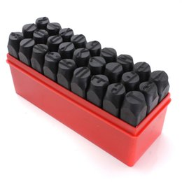 Wholesale Metal Stamping Tools Wholesale - Wholesale- Stamps Letters Alphabet Set Punch Steel Metal Tool Case Craft Hot 3mm