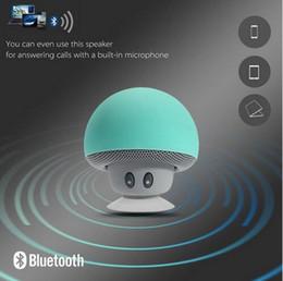 Wholesale Md Plastic - 2016 Fashion Mini Bluetooth Mushroom Style With Mic Suction Wireless Stereo Subwoofer Bluetooth Speaker Mini Portable Speaker