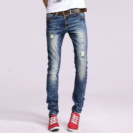 Wholesale Top Selling Pants Sizes - Wholesale-2016 HOT selling Top designer high quality cotton men jeans pants, European and American style jeans man