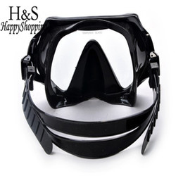 Wholesale Underwater Pool Glass - ccessories handbag Brand New Underwater Scuba Diving Snorkeling Mask Swimming Glasses Set PU Silicone Tube Snorkel Mask Pool Equipment Ac...