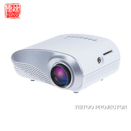 Wholesale 3d Projector Cheap - Wholesale-Wholesale White 200Lumens 1080P Cheap Mini LED Digital Portable HDMI TV USB Projector for Home Theater 3D Review, Free Tripod