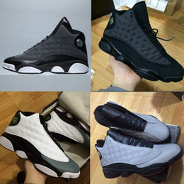 Wholesale High Sport Boots - high quality air retro 13 XIII MENS Basketball Shoes black cat Bred Navy Game hologram grey toe Flint Grey Athletics Sport Sneaker Boots