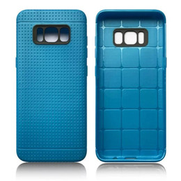 Wholesale Leather Plain Wholesale Factory - For Samsung Galaxy S8   S8 Plus Colorful Plain Soft TPU Case Mesh Dot Rubber Leather PU Smooth Phone Skin Cover Low Factory Price