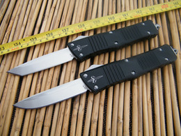 Wholesale Microtech Combat Troodon Drop Point - Deluxe Microtech Combat Troodon Tactical Knife ,T6061Aluminum Black Handle ,VG10 Drop Point  Tanto blade,EDC Pocket knife
