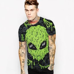 Wholesale Hip Hop Tassels T Shirt - 2017 latest wholesale new fashion brand T-shirt hip-hop 3D print skull skull skull animation 3D T-shirt summer cool T-shirt shirt brand