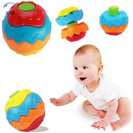 Wholesale Fitness Month - Wholesale- XFC Baby Toddler Rattles Toy Children Colorful Grasping Fitness Ball DIY Puzzle Toy Educational Magic Handmade Toy Gift