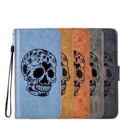 Wholesale huawei phone cartoon case - Retro Skull Flip Wallet Leather Case For Huawei GR5 2017 NOVA 2 Plus P9 V9 Y5 2017 Y3 2017 Y7 Prime Honor 9 Cartoon Stand Phone Cover 50pcs