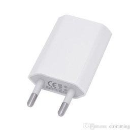 Wholesale Charger Ipad2 - 5V 1000ma 1A Universal EU US Plug Slim USB Wall Charger AC Power Adapter for iphone 7 5 5s 6S Plus 5G ipad mini ipad2
