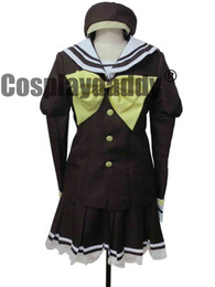 Anime uniforme ragazza di scuola online-Shuffle Cosplay Costume School Girl Uniform Sailor dress