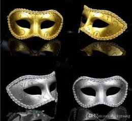 Wholesale Full Black Face Mask - Halloween Men's and women's Masquerade Mask Fancy Dress Venetian Masks Masquerade Masks Plastic Half Face Mask Optional Multi-color