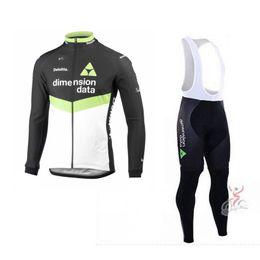 Wholesale warm gel - 2017 winter thermal fleece pro team dimension data long sleeve cycling jersey Ropa Ciclismo warmer MTB quick-dry warmer bike cloth GEL pad