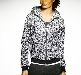 Wholesale Large Hooded Jackets Women - 2017 New Jogging Suits Sport NWT Woman Sport Jacket Hooded Windbreaker Breathable and Warm BLK Large Sport Windbreaker