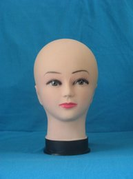 Wholesale Hair Salon Mannequin Heads - training doll female head display stand manikin,mannequin for wig salon for hair dresser,Plastic Head ,freeshipping M00479