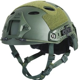 Wholesale Military Helmet Mask - Tactical Army Military Protective Helmet Cover Casco Airsoft Helmet Accessories Face Mask Emerson Paintball Fast Jumping