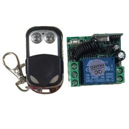 Wholesale Remote Control Switch Module - Wholesale-433 MHz DC12V 10MA Relay Module Wireless Universal Remote Control Switch Transmitter with Receiver uzaktan kumanda