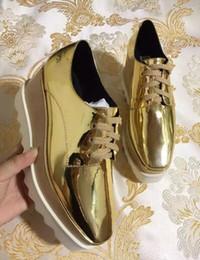 2019 zapatos de las estrellas de levantamiento Nueva venta al por mayor Stella Mccartney Rose Gold Elyse Platform zapatos de mujer cuero genuino Pink Star Platform rebajas zapatos de las estrellas de levantamiento