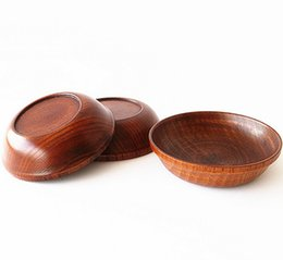 Wholesale Wholesale Household Goods Free Shipping - 11cm good Quality wood Dish plate meal dishes plates kitchen household hotel Tableware Dinnerware wholesale free shipping