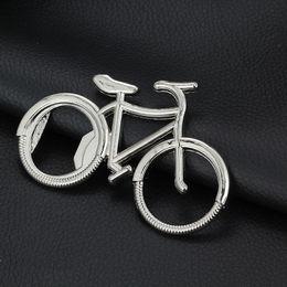 bierliebhaber geschenke Rabatt Nettes modernes Fahrrad-Metallbier-Flaschenöffner keychain Schlüsselringe für Fahrradliebhaber-Radfahrer kreatives Geschenk für das Radfahren IC563