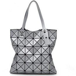 Wholesale Wholesale Messenger Bags For Women - Wholesale- 2016 Hot Sale Women Designer Famous Brand Shoulder Handbags Geometric Rhombus Bags for Women bao bao Bag Messenger Bags Silver