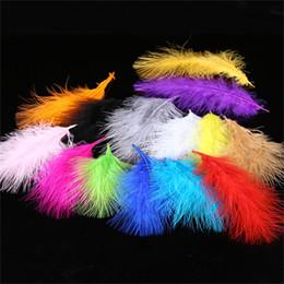 2019 окрашенные гусиные перья Многоцветные природные окрашенные гусиное перо DIY аксессуары для волос свадьба поставки одежды Украшения бесплатная доставка CB011 дешево окрашенные гусиные перья
