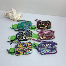 Wholesale Small Fabric Coin Purse - VB small Cotton flower Wallet Card Wallet Purse coin purses