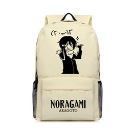 Wholesale Shoulder Bags For Middle School - Noragami Aragoto Backpack for Boys and Girls Khaki Oxford Shoulder Bags for Travel Camping Bag Middle School Students School Bag