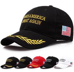Wholesale Womens Wholesale Fashion America - Make America Great Again Hat Donald Trump Republican Snapback Sports Hats Baseball Caps USA Flag Mens Womens Fashion Cap 100pcs
