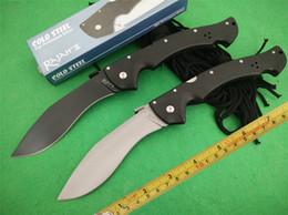 Wholesale Large Outdoor Knife - OEM Large RAJAH 2 D2 Blade FRN Folding pocket Camping Outdoor Cold steel Karambit Hunting Knives tactical survival knife EDC tool
